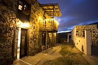 Old houses in Charco del Pino by night in Tenerife Canary islands Spain.