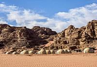Sun City Camp, Wadi Rum, Aqaba Governorate, Jordan.