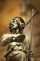Sculpture of Jesus inside Pisa Cathedral (Santa Maria Assunta), Pisa, Tuscany, Italy.