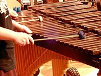 Girls Playing Marimba, Wellsville, New York, USA.