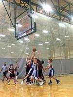 Youth Basketball Game, Winchester, Massachusetts, USA.