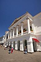 View to the Teatro Nacional de Sucre at the historic center, Quito, Ecuador, South America