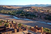Ait Benhaddou in High Atlas mountains in Maroc.