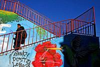 stairs and graffiti, Cornellà de Llobregat, Catalonia, Spain