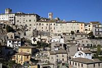 view of the city of Narni, near Terni, Umbria, Italy.