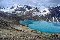 "Ala Kol lake ""3500 masl"" in Tien Shan mountains, Kyrgyzstan."