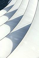 Abstract image of the sail roof of the Vancouver Convention Centre.