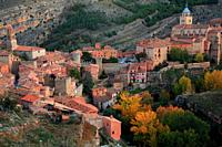 View of Albarracín in autumn. Teruel.