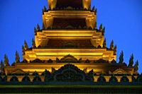 Buddhist stupa in Phnom Penh, Cambodia, South east Asia.