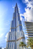 The Burj Khalifa tower, the tallest building in the world, at Dubai United Arab Emirates.
