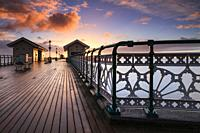 Sunrise captured from the Victorian Pier at Penarth in South Wales.