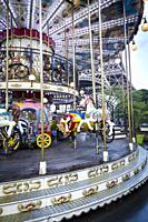 Traditionnal Parisian carousel near Eiffel Tower.