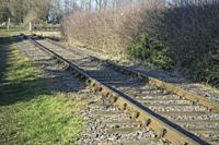Section of Rail track of the Swannington Incline in the Leicestershire village of Swannington.