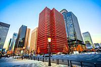 Japan,Tokyo City, Marunouchi District Skyline.