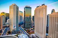 Japan, Tokyo City, Shinjuku ward, Shinjuku Station West Side.