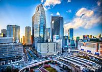 Japan, Tokyo City. Shinjuku Ward, Shinjuku Station west side, Cocoon Tower.