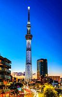 Japan, Tokyo City, Sky Tree Tower.