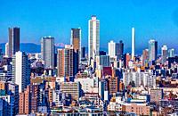 Japan, Tokyo City, Ikebukuro district skyline.