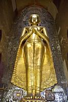 Ananda temple, Old Bagan village area, Mandalay region, Myanmar, Asia.