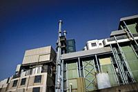 Industrial structure to burn waste of urban production.