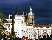 Czech Republic. Prague. Hradcany. Presidents Palace and Cathedral of St Wit