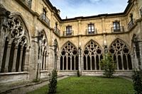 Cloister of Cathedral of San Salvador in Oviedo, Asturias, Spain.