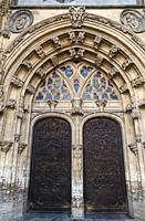 Portal of Cathedral of San Salvador in Oviedo, Asturias, Spain.