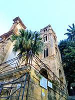 Church Santa Maria dell'Ammiraglio detta la Martorana, Italy, Sicily, Palermo.