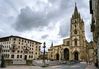 Cathedral of San Salvador in Oviedo, Asturias, Spain.