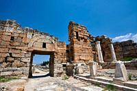 Picture of The north gate forms part of a fortification system built at Hierapolis in late 4th century Theodosian times. Hierapolis archaeological sit...