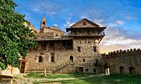 Picture & image of David Gareja Georgian Orthodox monastery, Mount Gareja, Kakheti Region, Georgia (country). 25 km (15 miles) from Gardabani.