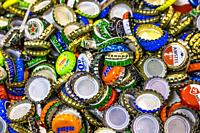 Collection of bottle caps.