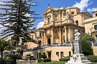 Church of San Domenico, Noto, Siracusa, Sicily, Italy.