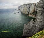 Côte d'Albâtre Cliffs, Étretat, Normandy; France.