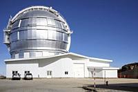 the big telescope in the roque de los muchachos astronomical observatory. garafia. la palma. canary islands. spain.