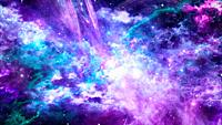 Universe with Galaxy, Stars and Colorful Nebula on Dark Starry Background.