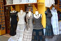 Vintage fashion shop. Burano, Venice, Veneto, Italy.