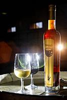 malvasia grape wine of teneguia winery. fuencaliente. la palma. canary islands. spain.