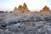 Djibouti, Abbe lake area, landscape.