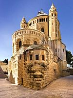 Dormition Abbey, Byzantine Church, Mount Zion, Jerusalem, Israel, Middle East.