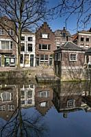 Netherlands, Gouda, 2017, The famous facades from the dutch town of Gouda. With itâ. . s red brick constructions and large windows.