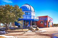 The visitor center at the Kitt Peak National Observatory in Arizona.
