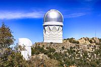 Telescope domes at the Kitt Peak National Observatory in Arizona.