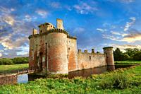 Exterior of Caerlaverock Castle, Dumfries Galloway, Scotland,.