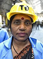 Guwahati, Assam, India. March 6, 2019. Women workers of the Northeast Frontier Railway working at Guwahati Railway Station, as International Women's D...