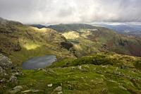 Low Water on the flank of The Old Man of Coniston in the Lake District National Park, Cumbria, England.