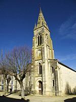 Protestant Church, Laparade, Lot-et-Garonne Department, Nouvelle Aquitaine, France.