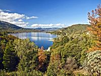 Whiskeytown Lake and the Whiskeytown National Recreation Area. Northern California. Phographed before the Carr fire of 2018.
