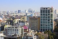 Sky line at Ho Chi Minh city, Saigon, Vietnam, Asia,.