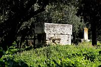 Archaeological Site of Kerameikos in Athens Greece. Kerameikos is one of the most important but least visited archaeological sights in Athens. This wa...